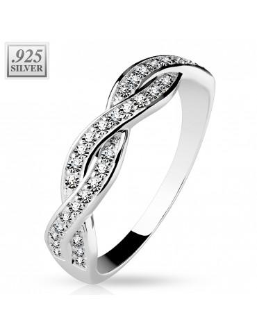 Strieborný prsteň so...