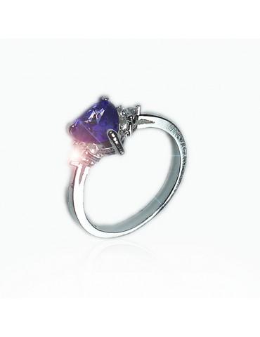 Strieborný dámsky prsteň so...